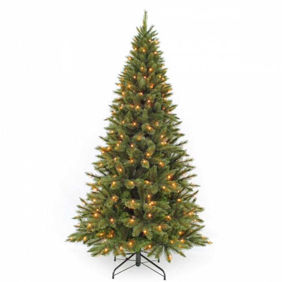 Искусственная елка Лесная Красавица стройная 215 см 256 ламп зеленая