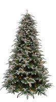 Искусственная елка Нормандия Пушистая 185 см 216 ламп заснеженная