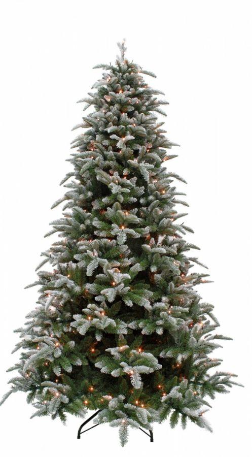 Искусственная елка Нормандия Пушистая 230 см 376 ламп заснеженная