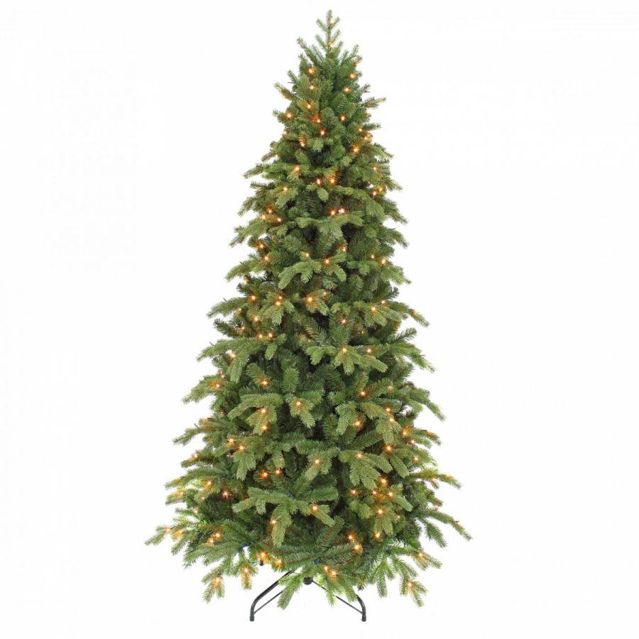 Искусственная елка Шервуд премиум стройная 260 см 360 ламп зеленая