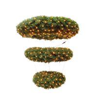 Триумф венок-люстра Элегантный 3 кольца 120 см 632 ламп зеленый