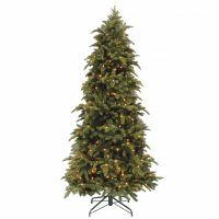 Искусственная елка Нормандия стройная 365 см с лампами темно-зеленая