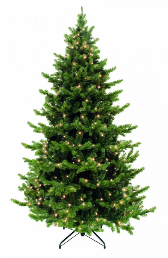 Искусственная елка Шервуд премиум 600 см 3728 ламп зеленая