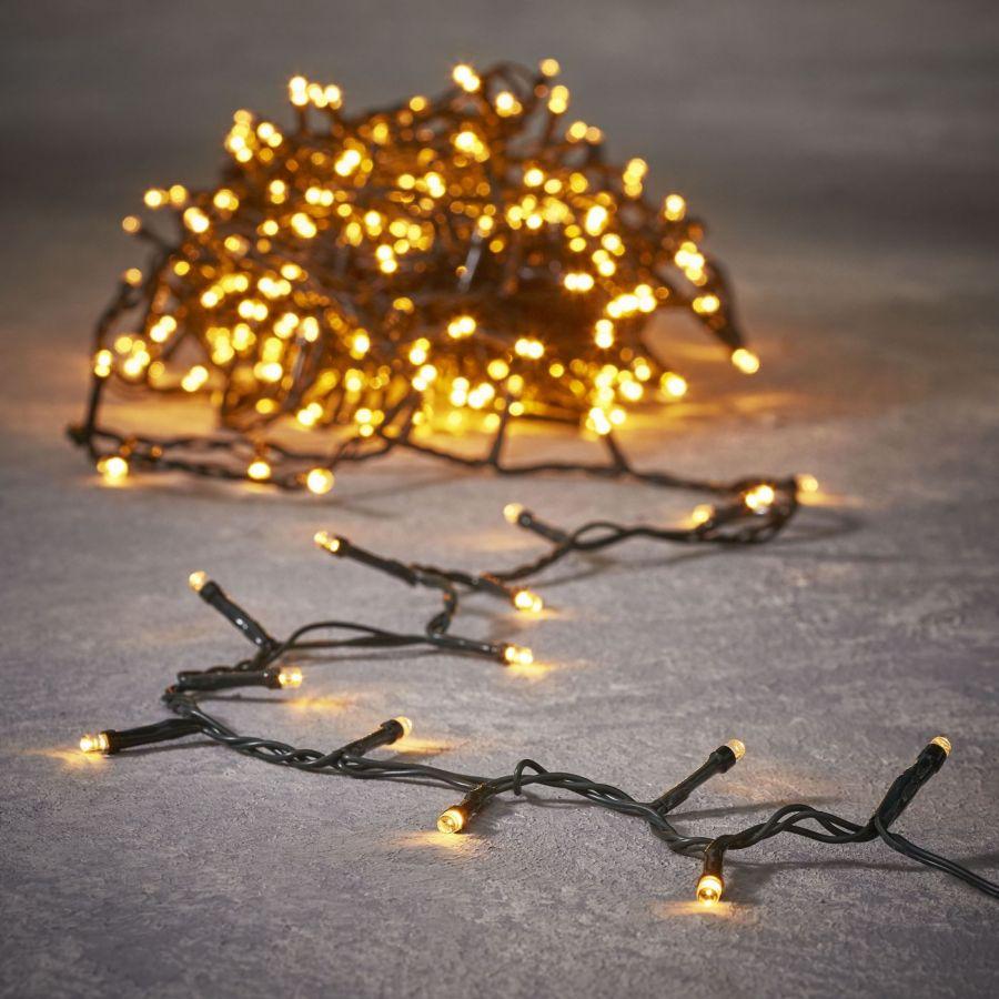 Гирлянда String light теплый свет, работает от батареек, таймер на отключение 6/18, для наружного и внутреннего использования