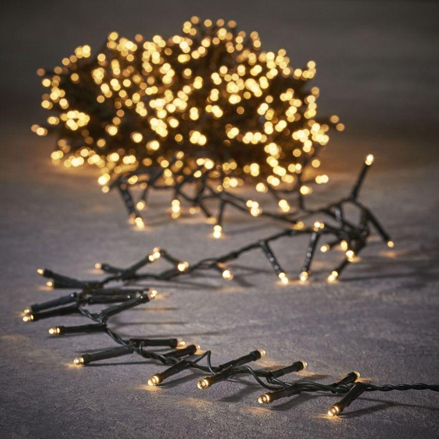 Гирлянда String light теплый белый свет, работает от батареек, таймер на отключение 6/18, для наружного и внутреннего использования