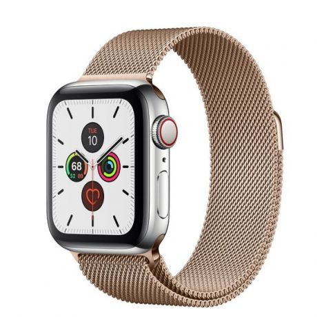 Apple Watch Series 5 Stainless Steel Case 44mm GPS + Cellular Gold with Milanese Loop