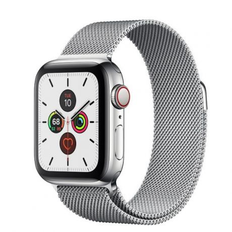 Apple Watch Series 5 Stainless Steel Case 44mm GPS + Cellular Silver with Milanese Loop
