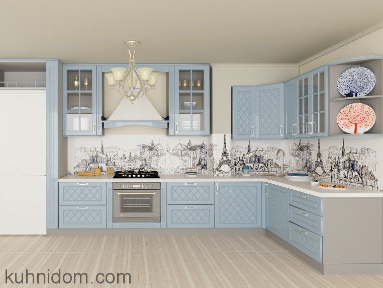 Кухня Karini Голубая