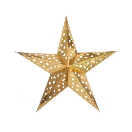 Звезда золотая голлографическая