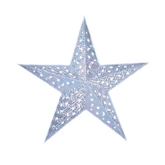 Звезда серебряная голлографическая