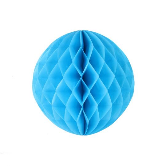 Шар бумажный голубой