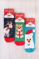 Носки детские теплые Новый год № 3887
