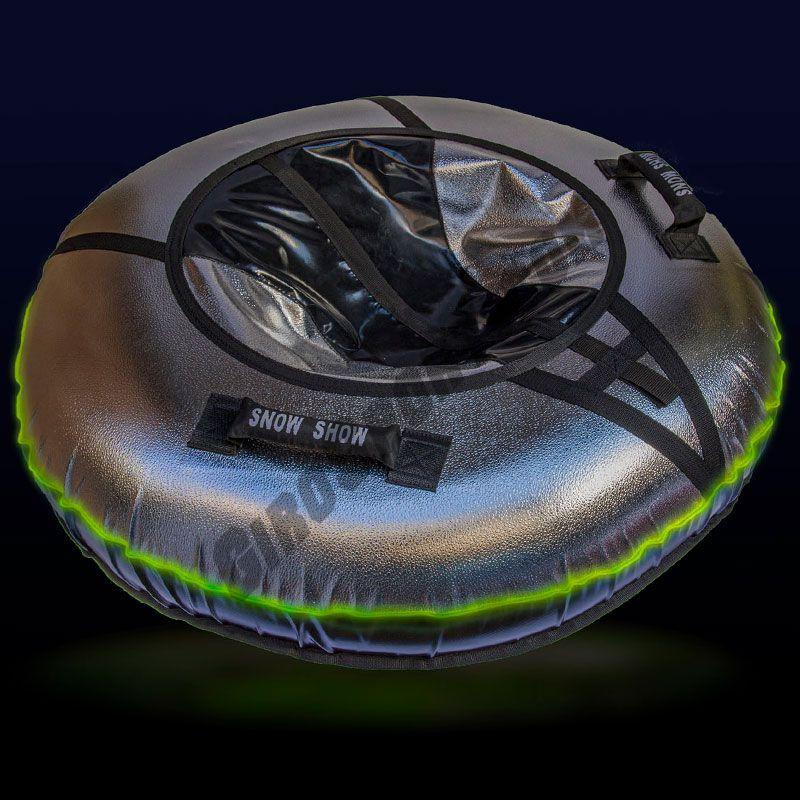 Тюбинг с подсветкой Sport Light 110 см черный