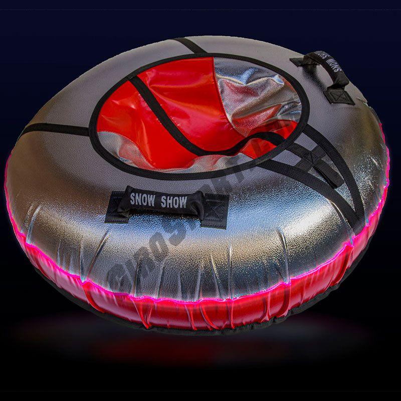Тюбинг с подсветкой Sport Light 110 см красный