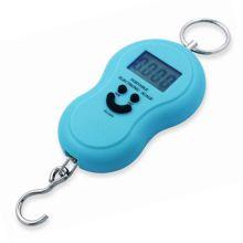 Электронный безмен с металлическим кольцом Portable, 50 кг, Голубой