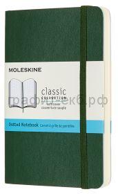 Книжка зап.Moleskine Pocket Classik Soft пунктир зеленая QP614K15