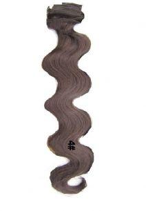 Искусственные волнистые термостойкие волосы на заколках №004 (55 см) - 12 заколок, 130 гр.
