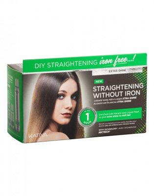 Набор для выпрямления волос «Экстра-блеск» для тусклых волос с жемчугом и кератином IRON FREE Kativa