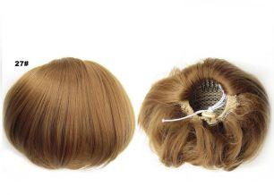 """Искусственные термостойкие волосы - Шиньон """"Бабетта"""" #027, вес 80 гр"""
