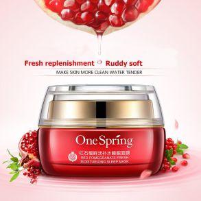 One spring Увлажняющий крем для лица с экстрактом красного граната, 50 г