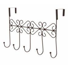 Винтажная планка с 5-ю крючками для крепления на дверь, 38х23 см