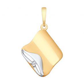 Подвеска из золота с фианитом 035475 SOKOLOV