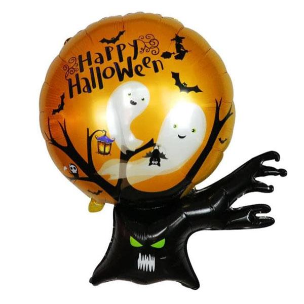 Дерево с привидениями шар фольгированный с гелием