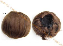 """Искусственные термостойкие волосы - Шиньон """"Бабетта"""" #006, вес 80 гр"""
