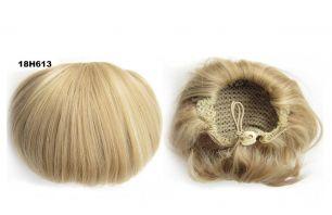 """Искусственные термостойкие волосы - Шиньон """"Бабетта"""" #18H613, вес 80 гр"""