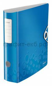 Файл А4 8см Esselte Leitz WOW синий металлик 11060036