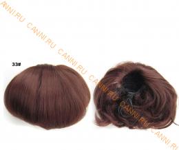 """Искусственные термостойкие волосы - Шиньон """"Бабетта"""" #033, вес 80 гр"""