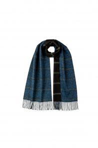 Роскошный двусторонний кашемировый шарф (100% драгоценный кашемир)ОКОННАЯ КЛЕТКА- ТРАДИЦИОННАЯ ВИНДЗОРСКАЯ КЛЕТКА ГЛЕНЧЕК,  GLEN & WINDOWPANE CHECK SPORTS REVERSIBLE ,   высокая плотность 7