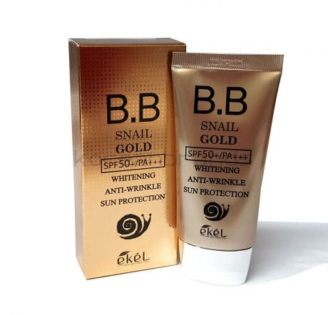 Ekel Snail B.B. Cream Whitening Anti-Wrinkle Sun Protection (SPF50+, PA+++)