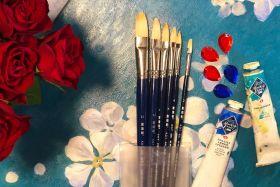 Набор овальных N235 кистей для художника для работы маслом