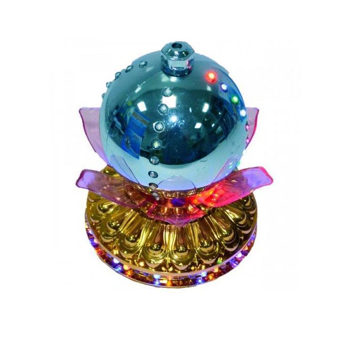 LED -Светильник Лотос С Шаром Цветной, 14 См, Цвет Синий