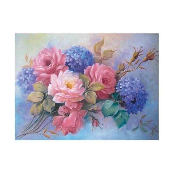 Картина по номерам Гортензии с розами 15*20см