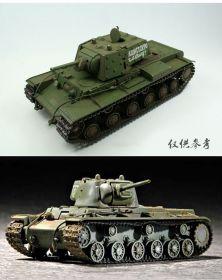 Сборная модель тяжелый советский танк КВ-1  1:72