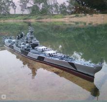 Сборная модель США Второй мировой войны BB61 Айова линкор военный корабль 1:700