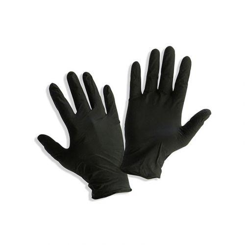 BlackFox Перчатки нитриловые EXTRA повышенной плотности, черные, размер XL (100шт/пачка)