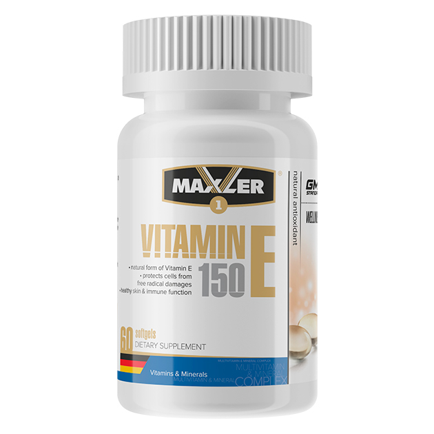 Vitamin E 150 мг от Maxler 60 кап