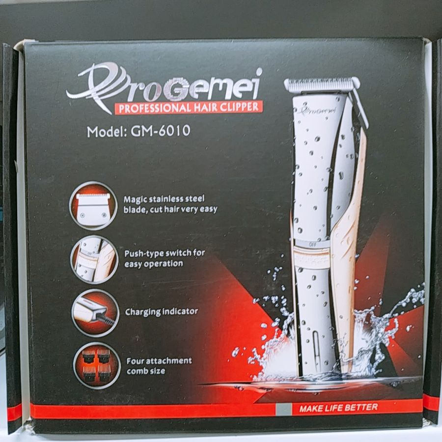 Машинка для стрижки профессиональная на аккумуляторе  ProGEMEI GM6010