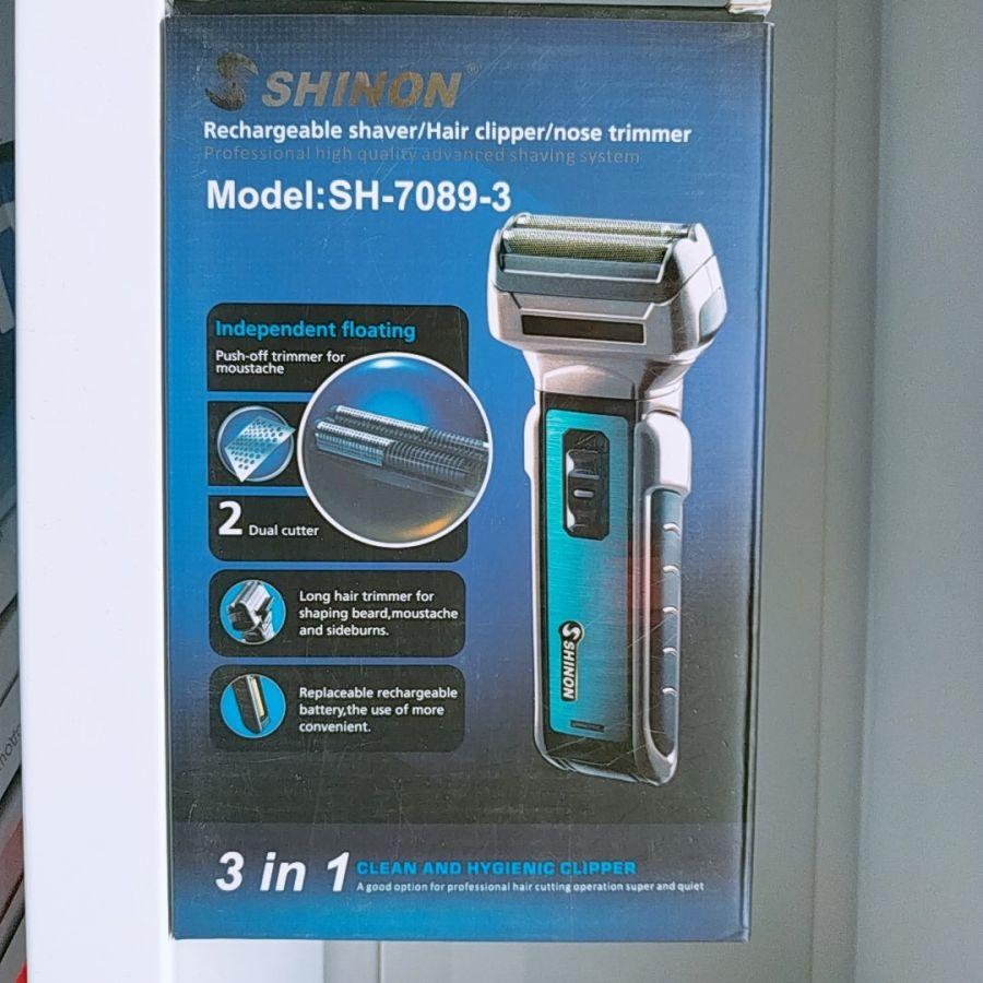 3 в 1 электробритва, триммер для носа, машинка для стрижки Shinon SH 7089-3