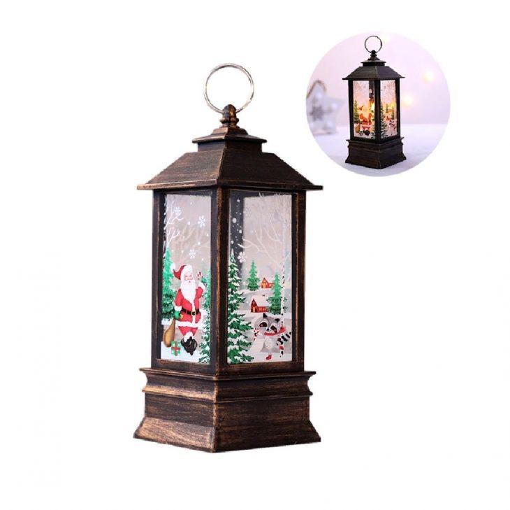Новогодний фонарик Зимнее Волшебство 13 см Санта