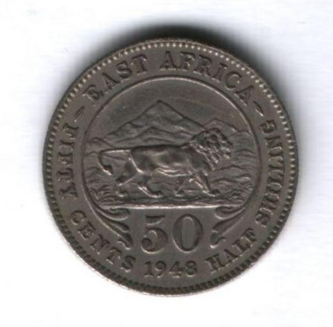 50 центов 1948 года Восточная Африка, XF