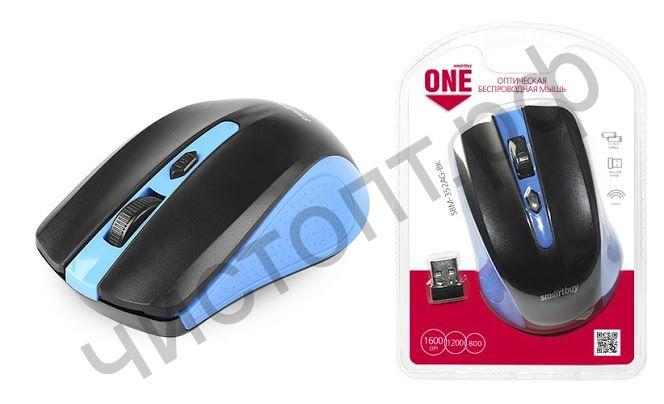 Мышь беспроводн. Smartbuy ONE 352 сине-черная (SBM-352AG-BK)