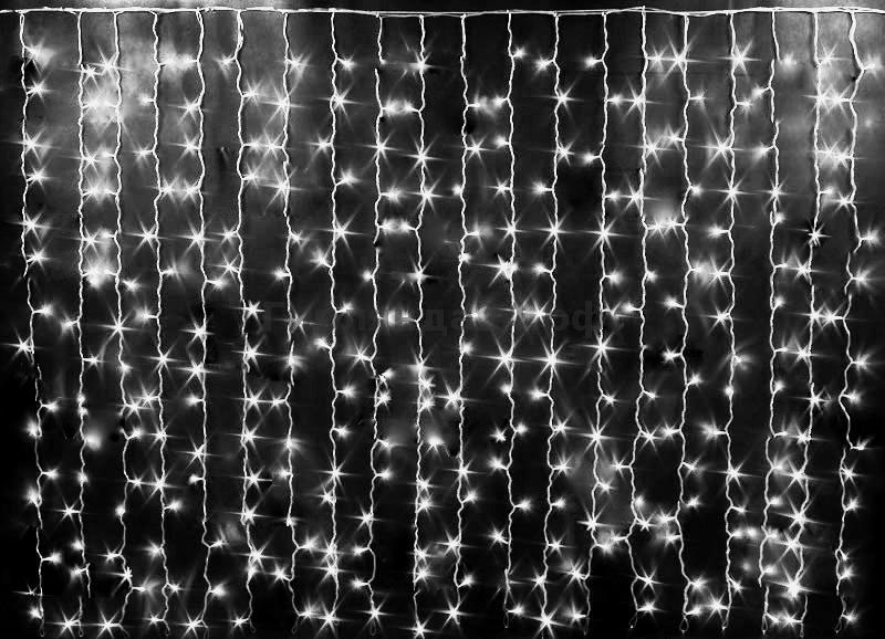 Светодиодная гирлянда-штора 3 х 3 (450LED) Цвет: белый холодный
