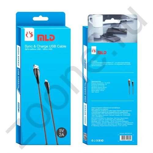Кабель micro USB MLD-CC1-01 1М черный MLD (на русском) (скидка 10 процентов)