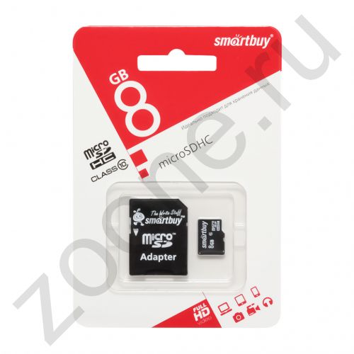 8GB microSDHC Class10 SMARTBUY
