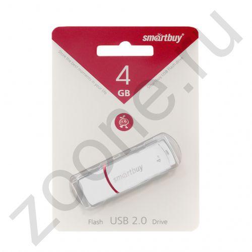 4GB USB CROWN белый SMARTBUY