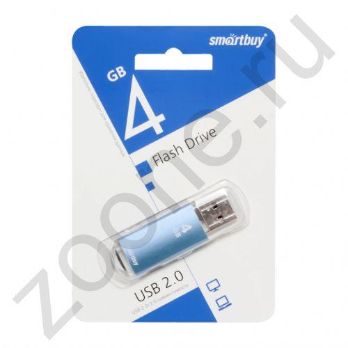 4GB USB V-CUT синий SMARTBUY